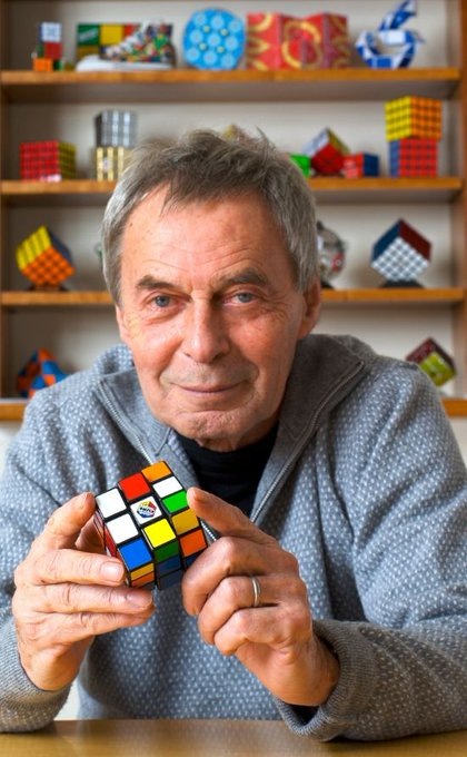 Happy birthday to Erno Rubik, Hungarian inventor of the Rubik\s cube.