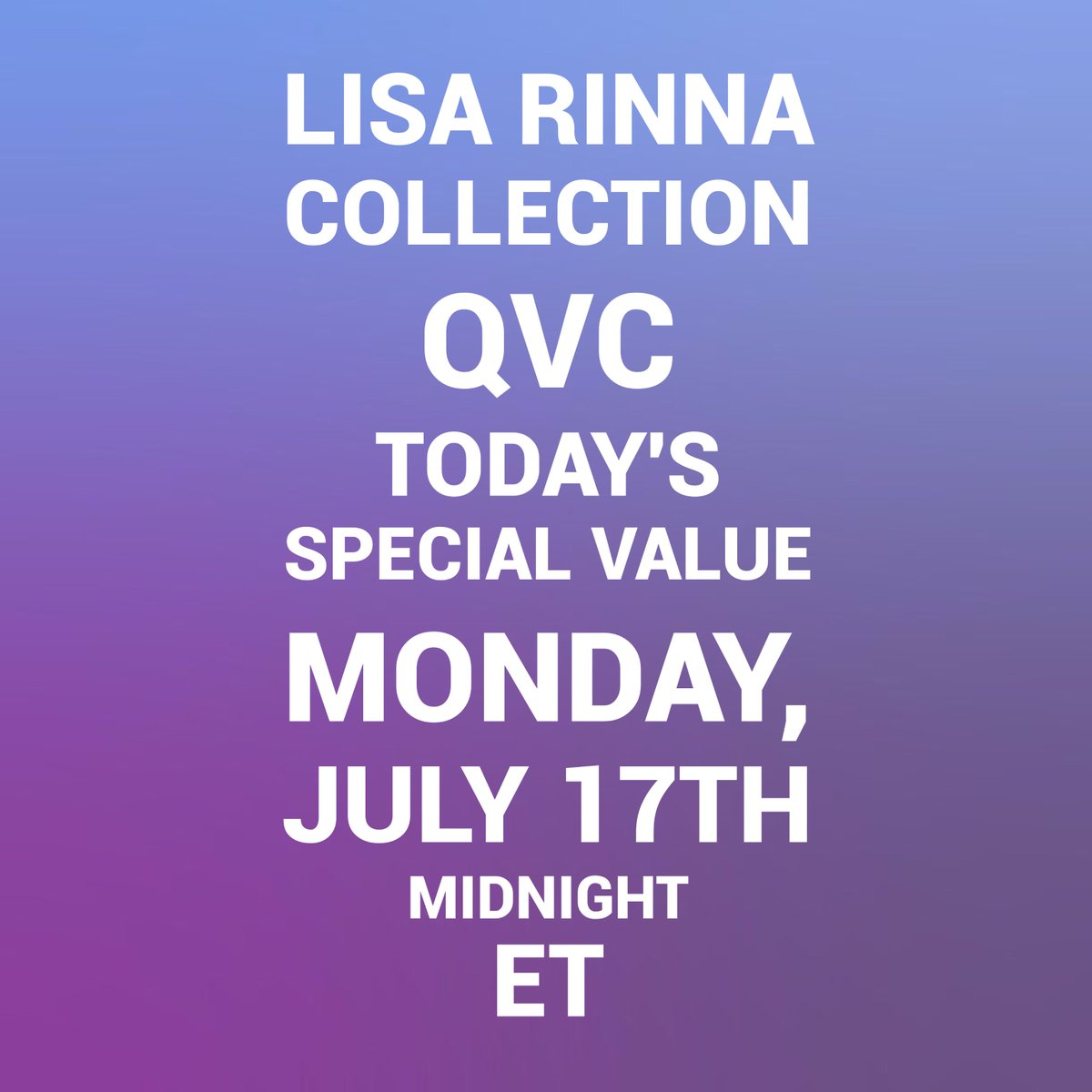 This Monday, get ready to shop with me on @QVC ???????????? https://t.co/2jhoCeFXUs
