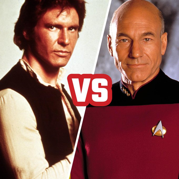 Happy birthday to Harrison Ford AND Patrick Stewart! Who\s your favorite Captain of the stars?