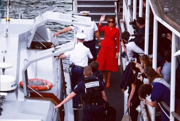 Enjoyed my tour of #Paris on the Seine this afternoon. Thank you to Mrs. Macron for being such a gracious hostess. https://t.co/uzbR2dREww
