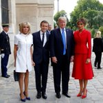 U.S. President Trump says French first lady is in 'such good shape'