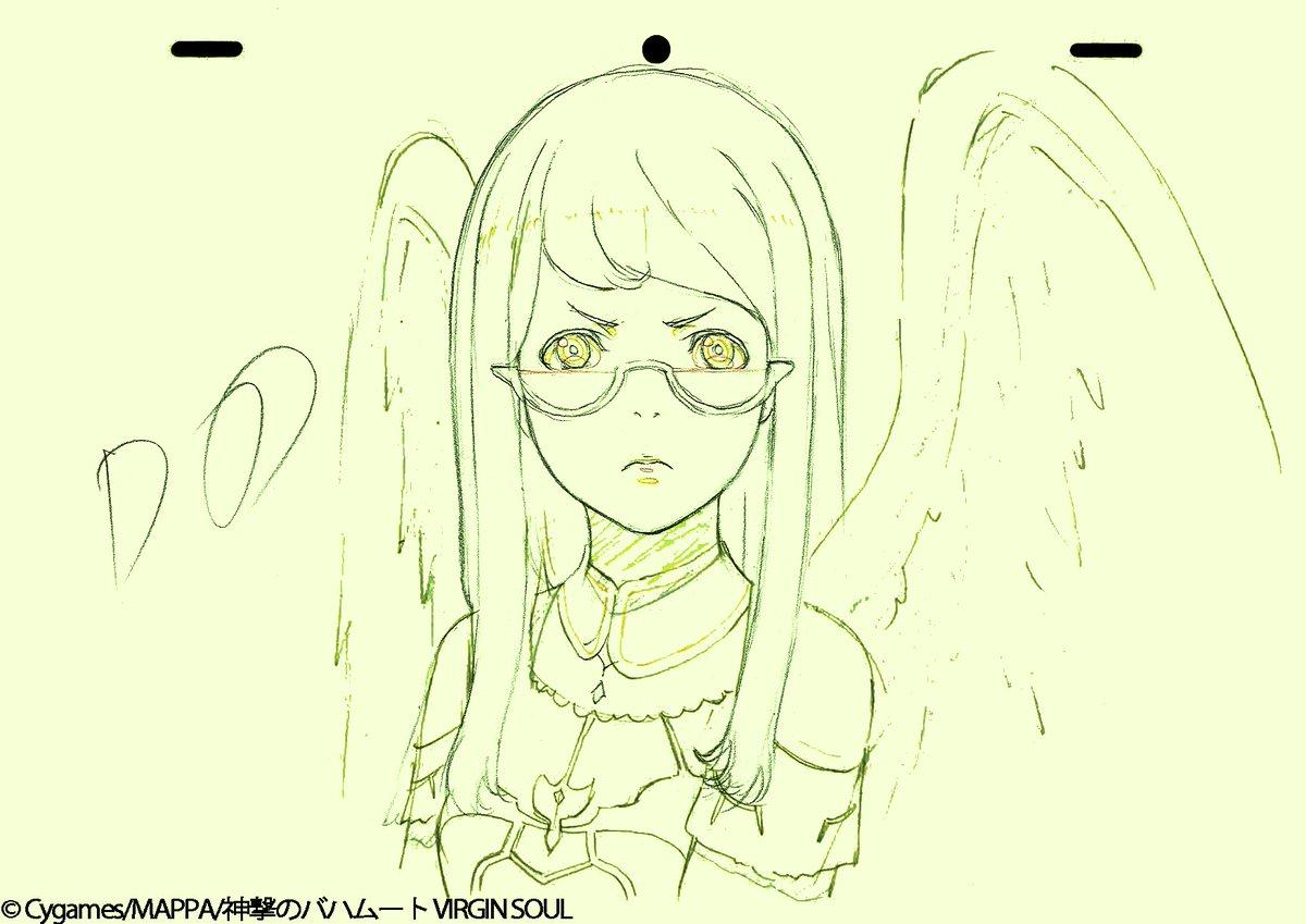 『神撃のバハムート VIRGIN SOUL』今週も総作画監督の絵を大公開!!!#15 は恩田さんに担当していただきました