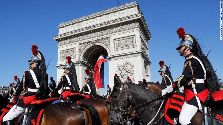 France is treating Donald Trump to an elaborate military display for
