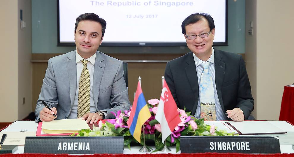 Singapore signs open skies agreement with Armenia