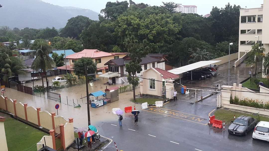 Flash floods strike George Town again following heavy downpour