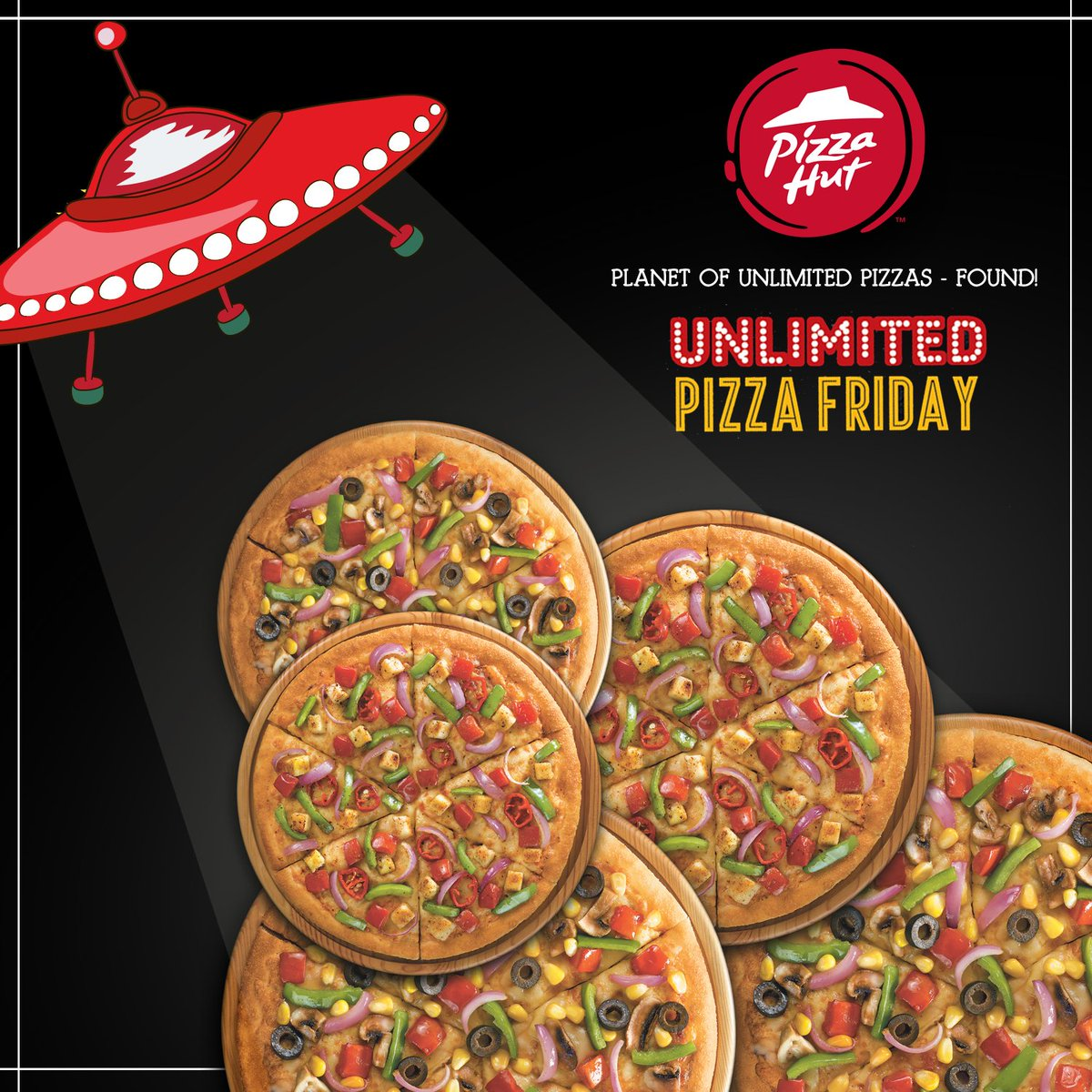Come to our outlets on UnlimitedPizzaFriday and find a whole new universe of delicious pan pizzas https t.co E1wNGAr2Zb