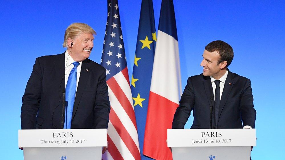 Trump and Macron discuss Syria's future