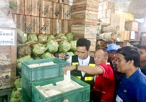 FDA crackdown on formalin-laced food in Yangon