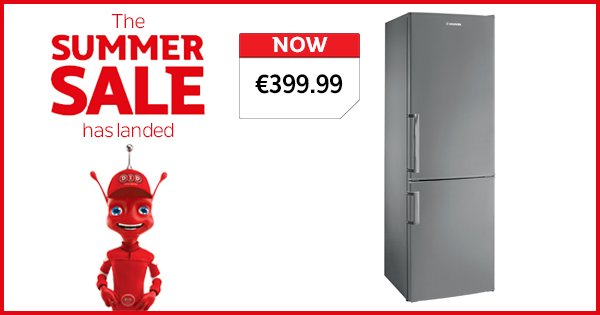 Delivering the performance to suit any kitchen, the Hoover S/SFridge Freezer is now €399.99 https://t.co/CLtBNkyQQI https://t.co/F3d0zzhL4e