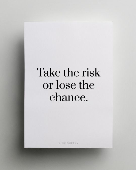 You will only regret the chances you didn't take. https://t.co/e8Hm1uFCB8