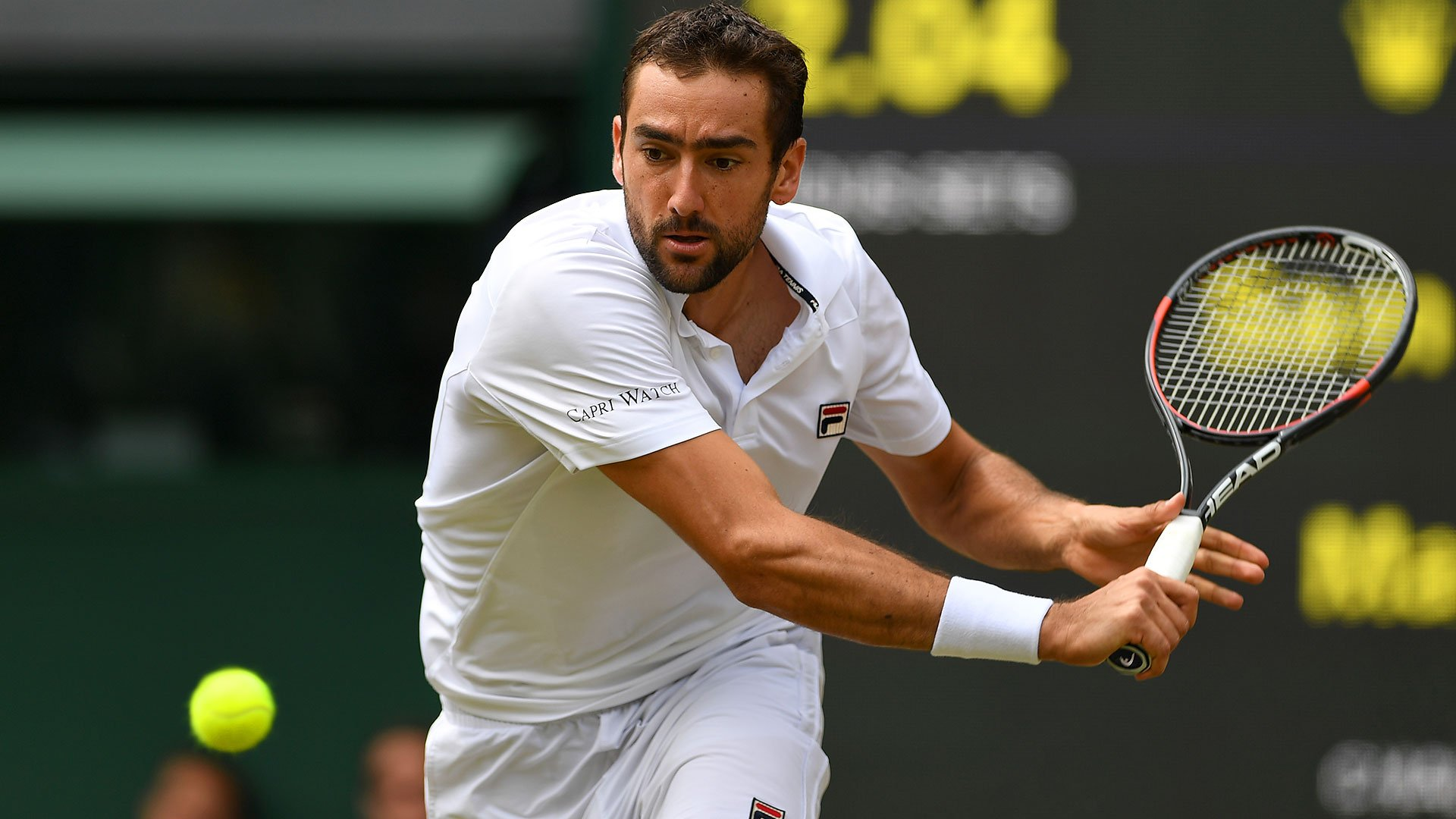 Cilic takes the 2nd set 6-4 vs Querrey to level their #Wimbledon semi-final. Follow Along: https://t.co/ftuBIla5AL https://t.co/X6LJQ0osUZ