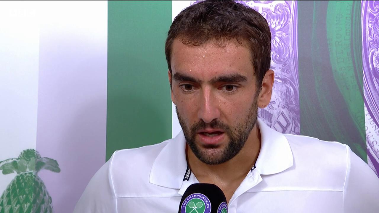 Marin Cilic isn't fussed who he faces in the #Wimbledon final.  He'll be ready to face anyone. https://t.co/x2irhZHwYi