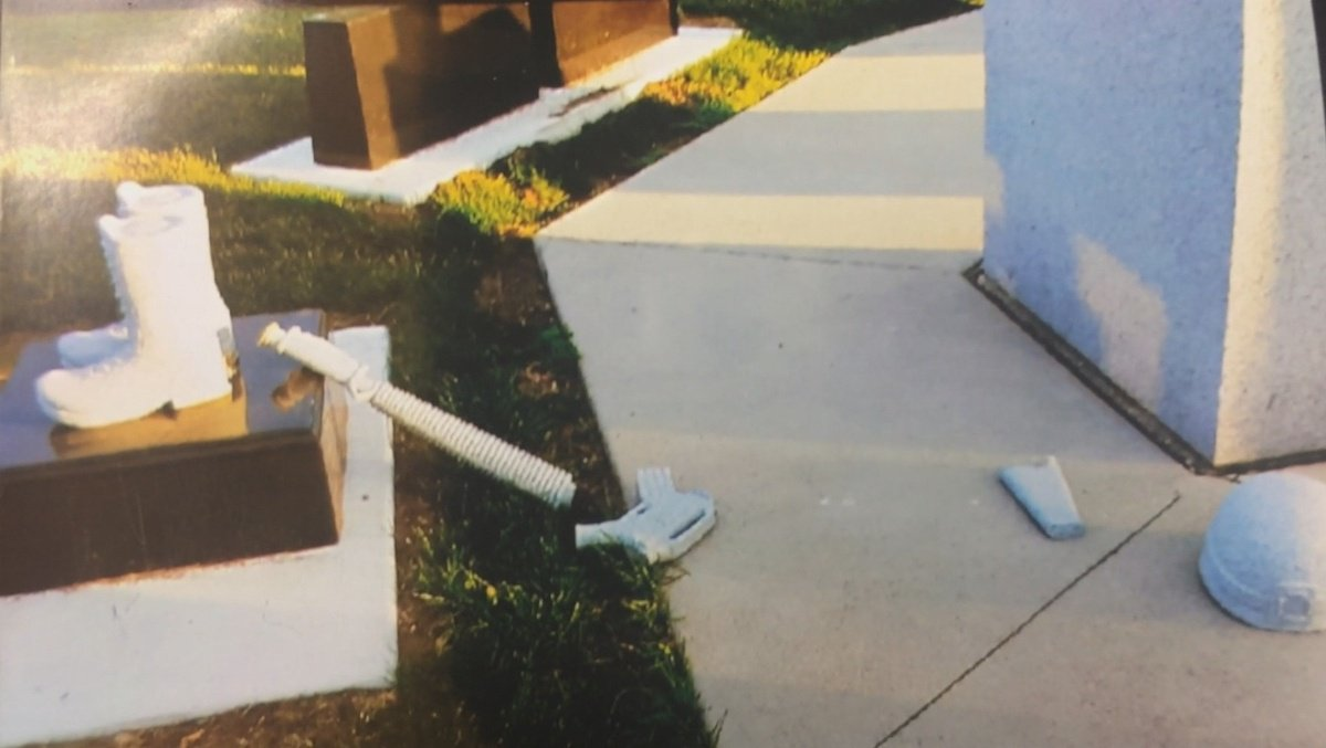 Veterans memorial vandalized in northern Iowa