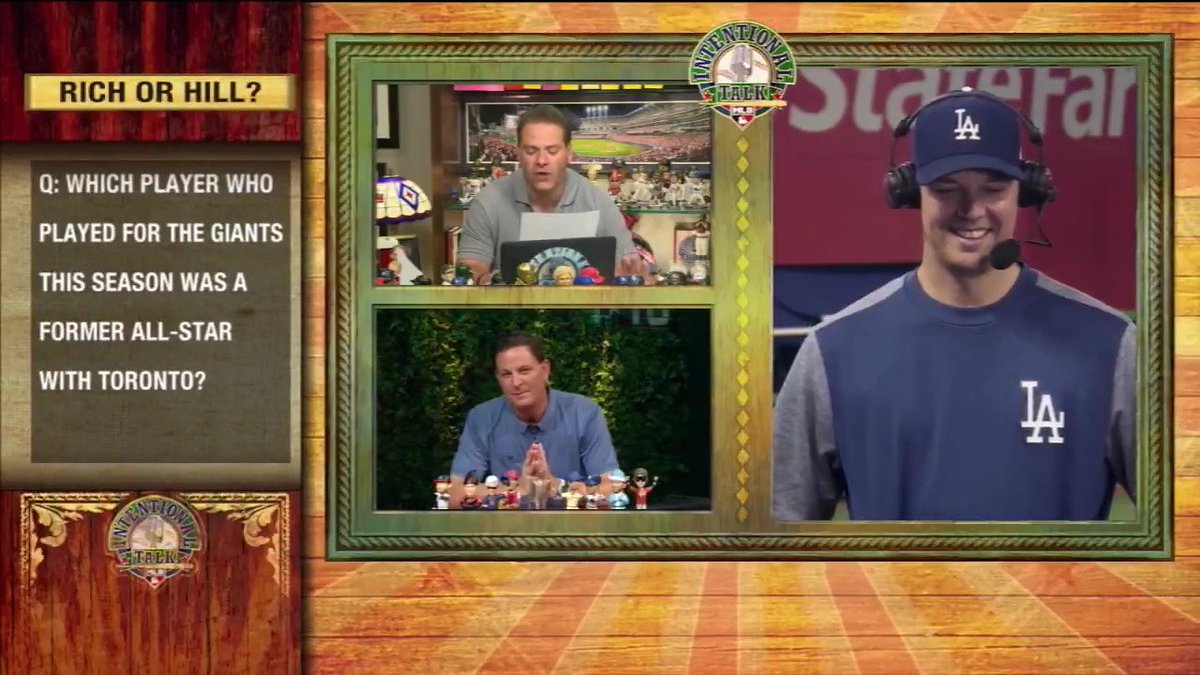 Rich or Hill? The @Dodgers lefty joined @ChrisRose and @Plesac19 this year to play! #ITMojo https://t.co/AbrHJkRWmN