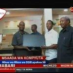 Mkuu Wa Mkoa Wa Dar es Salaam Apokea Msaada Wa Komputa 50