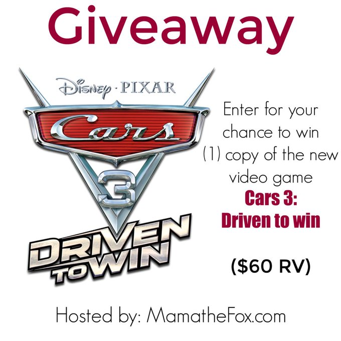 Cars 3 giveaway 7/15 @disney