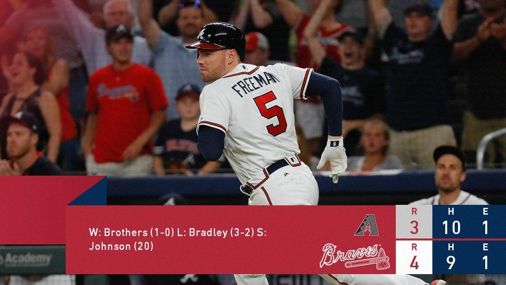 RECAP: Freeman carries #Braves past Diamondbacks. https://t.co/q8oGhvDyMe https://t.co/ssFIQf9Kbr