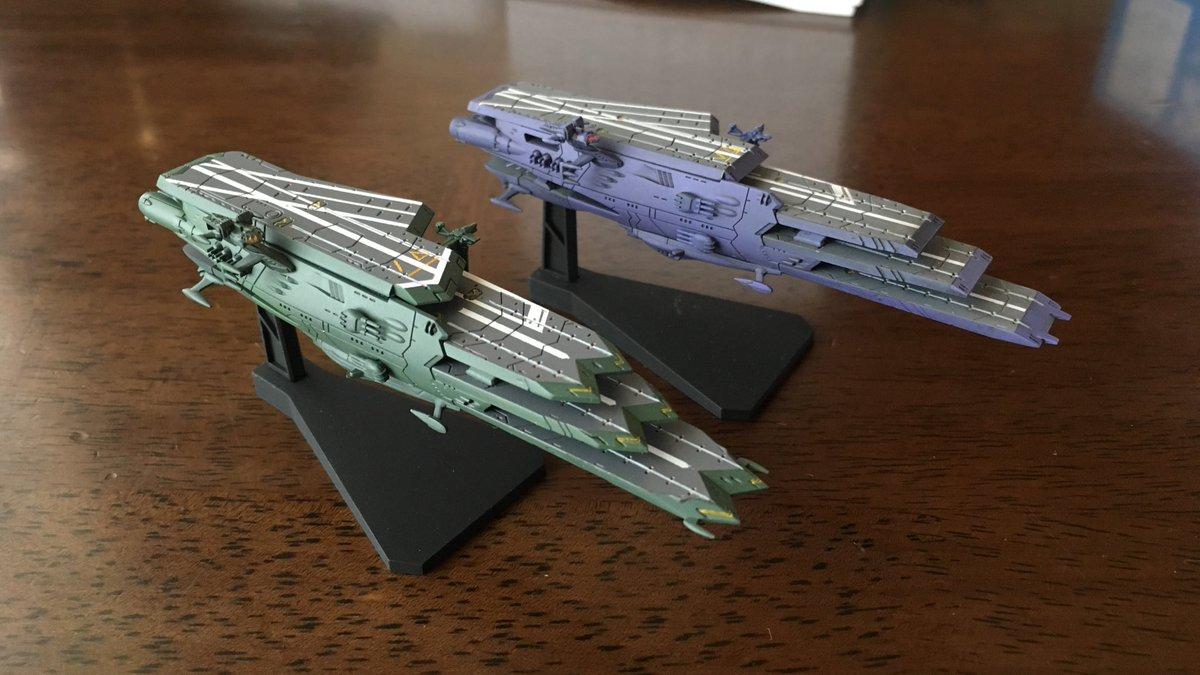 リビング模型してました。メカコレ宇宙戦艦ヤマト2199素組ですガイペロン級3番艦バルグレイ ようやく完成今回もランベア同