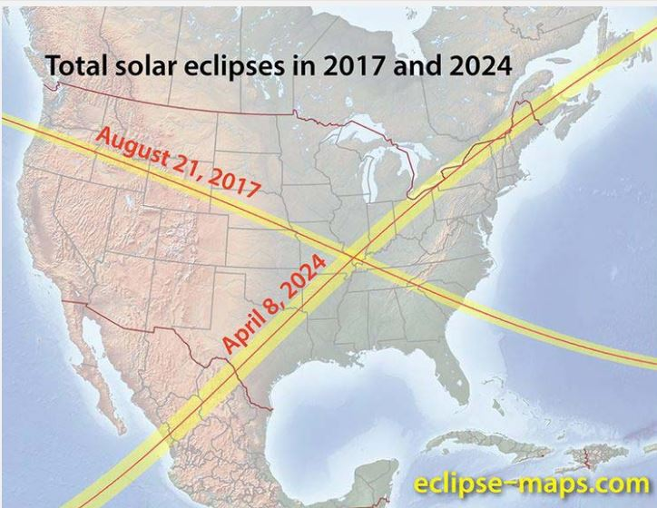 Carbondale, IL at center of not one, but two total solareclipses