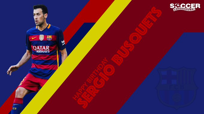 Happy Birthday Sergio Busquets   Here\s to many more years. Send through your wishes here.