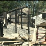Property Owner's Livelihood Goes Up in Flames, Children and HorsesEscape