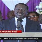 ODM leader Raila Odinga pays tribute to the late Joseph Nkaissery