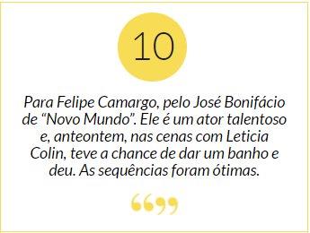 """Felipe Camargo. Foto do site da Patrícia Kogut que mostra Nota 10 para Felipe Camargo, pelo José Bonifácio de """"Novo Mundo"""". Mais em:"""