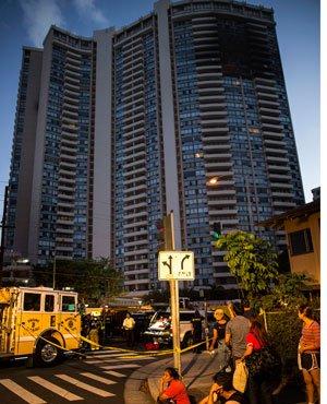 Three dead as blaze tears through Hawaii high-rise