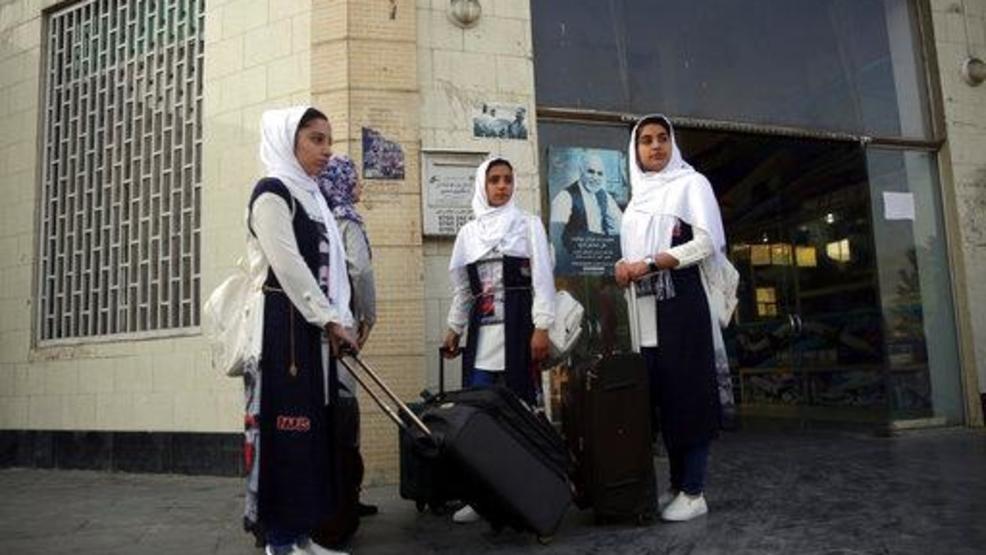 Afghan girls robotics team arrives in D.C. just in time