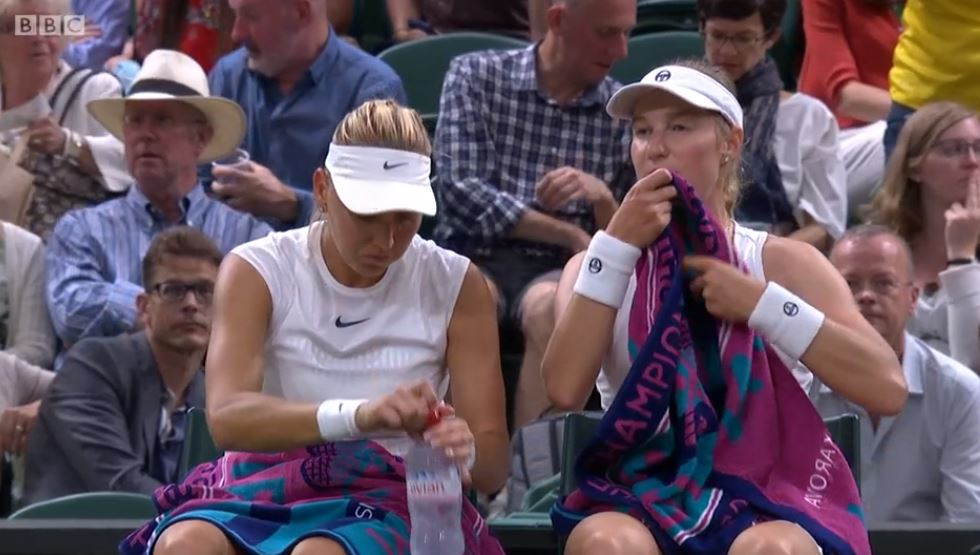 Makarova and Vesnina have broken early and lead 3-0  �� @BBCTwo  �� https://t.co/jiUsK2EKJG #Wimbledon #bbctennis https://t.co/fN9FqJ2nsT