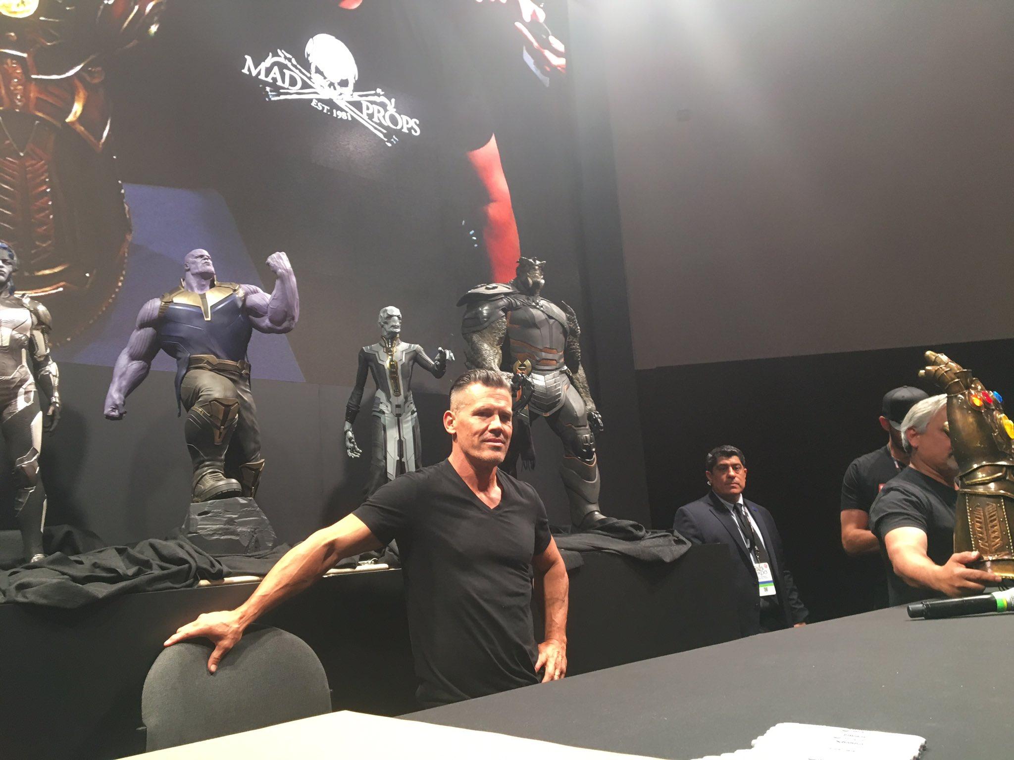 The children of Thanos revealed! And Josh Brolin himself is here. �� #AvengersInfinityWar #D23Expo https://t.co/gKkwhLIGEw