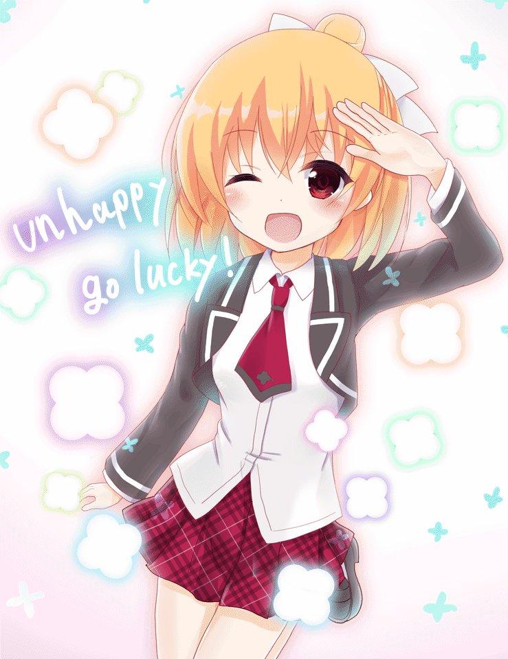 あんハピ♪より花小泉杏ちゃん、描きです。これからも一緒にアンハッピーにバイバイし続けたい…!!