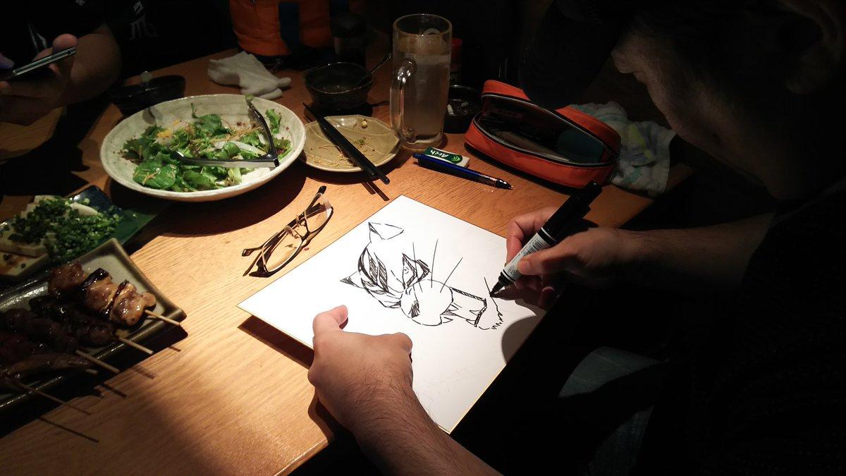 作画監督の香川先生がワンフェスに来て下さり、なんと、色紙にタイガーマスクWを描いて下さりました!すごいっ\(^o^)/