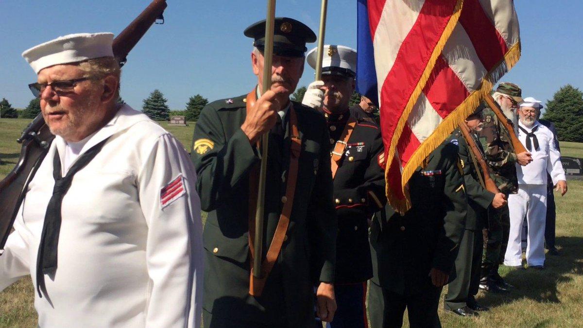 """Taps concludes military rites for Stan """"Sas"""" Surma, of Doon, Iowa"""