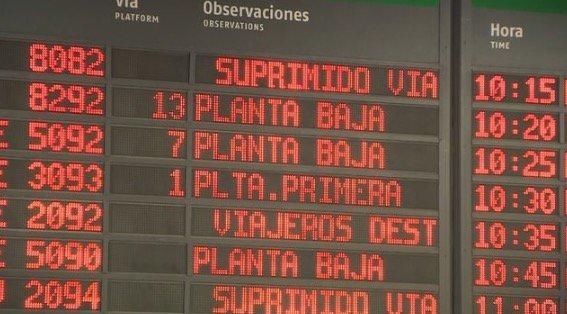 La huelga de Renfe obliga a cancelar 2.175 trenes
