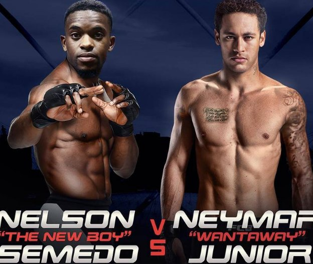 Após briga em treino, internet já prevê card do UFC Semedo vs. Neymar (Via @esportefera)