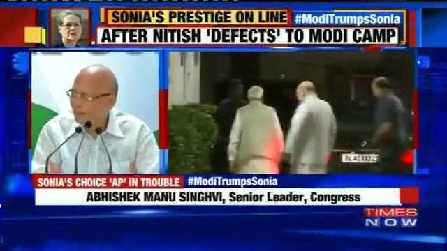 After Nitish Kumar 'defects' to Narendra Modi camp, Gujarat Congress MLAs desert Sonia Gandhi #ModiTrumpsSonia