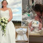 Heartbroken mum who lost her four-day-old baby has her wedding dress made into burial gowns for other tragic tots