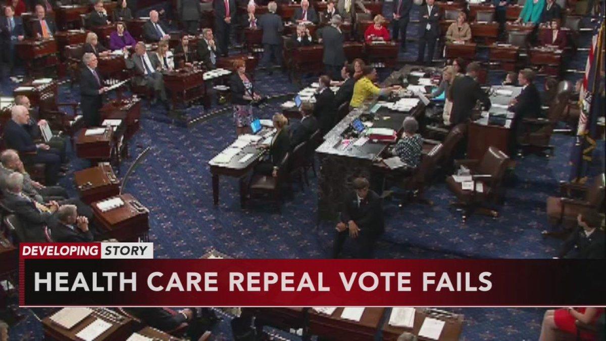Senate votes down health care repeal bill