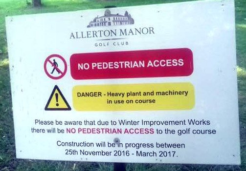 test Twitter Media - Cyclists and pedestrians denied rights of way by Allerton Manor golf club  @AllertonMGolf . Full report at https://t.co/obsbaLbQpL https://t.co/f9BQdiCMkh