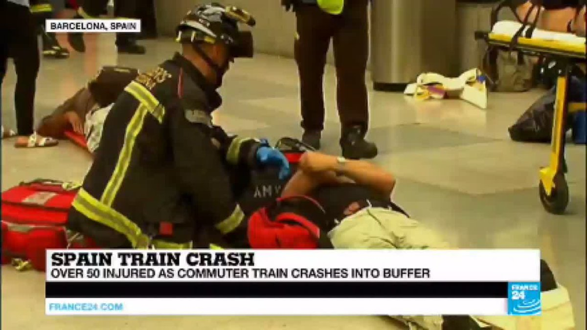 ?? Spain: Over 50 injured in train crash as commuter train smashes into buffer
