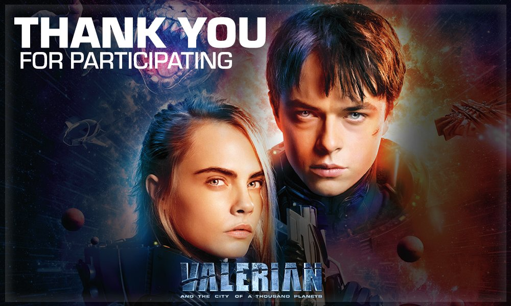 Thank you & keep participating! It's never too late to participate! #ValerianWithMN