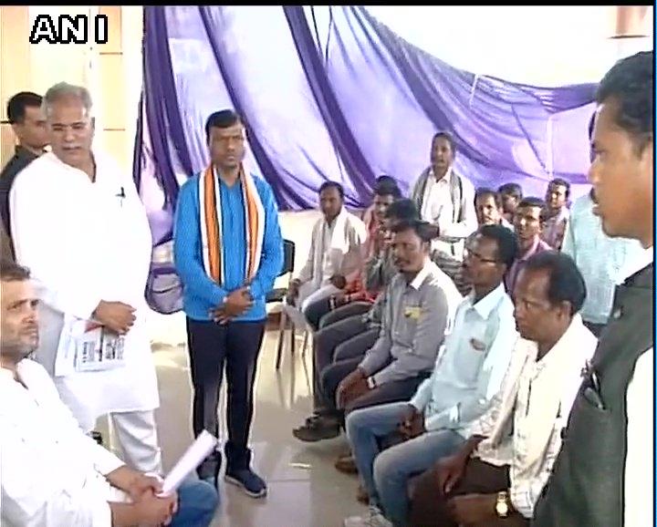 Rahul Gandhi met party workers and representatives of different delegations in Chhattisgarh's Jagdalpur