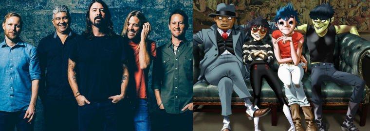 Foo Fighters e Gorillaz devem se apresentar no Brasil no começo de 2018