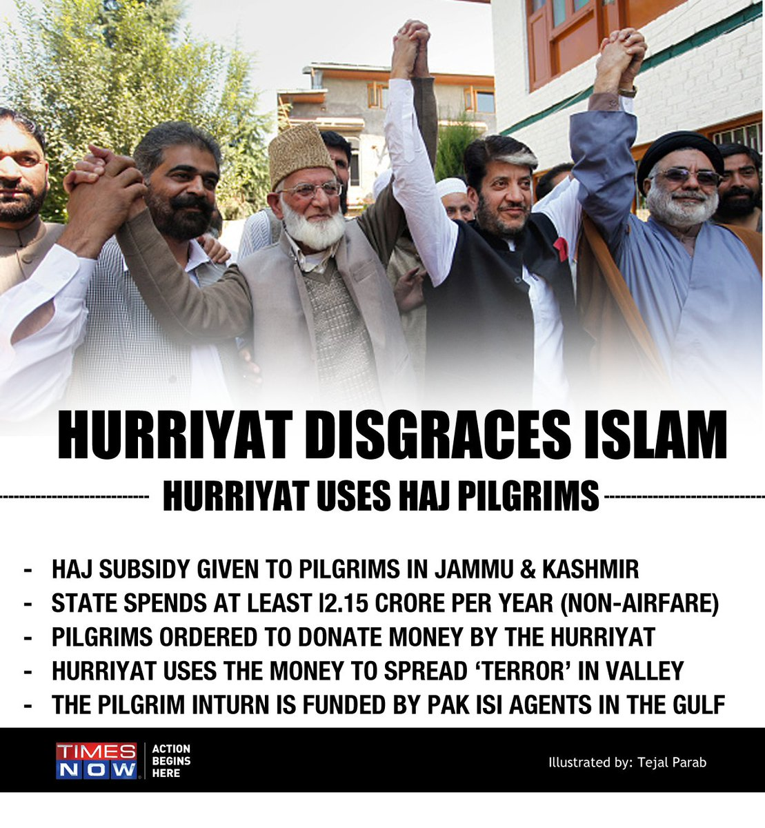 #HurriyatHijacksHajSubsidy Hurriyat Conference uses Haj pilgrims in Kashmir to access terror funds