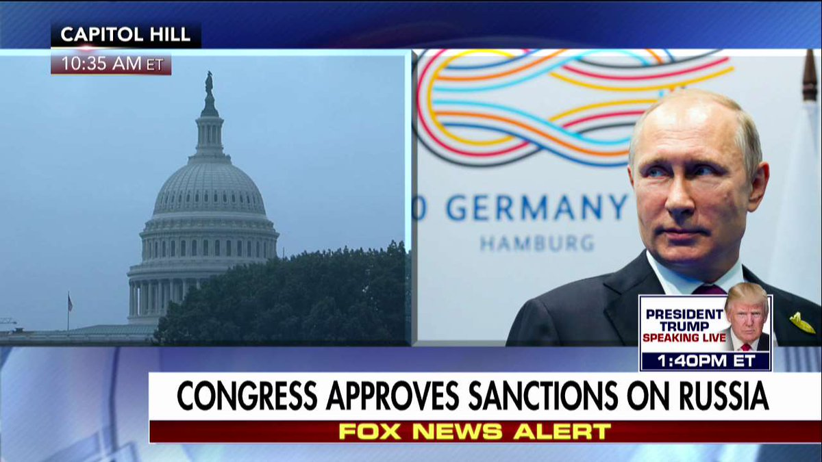 BREAKING NEWS Congress approves sanctions on Russia.