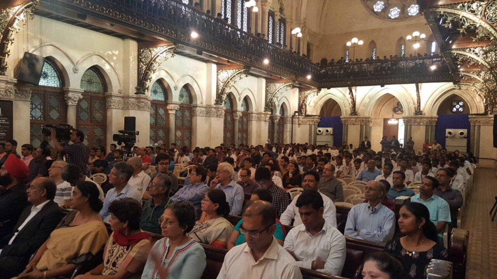 Addressing Indo Israel society Meet today at Bombay Univ Convocation Hall