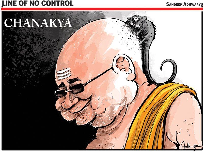 Today's toon by Sandeep Adhwaryu 😉#NitishKumar #NitishGharWapsi #NitishQuits
