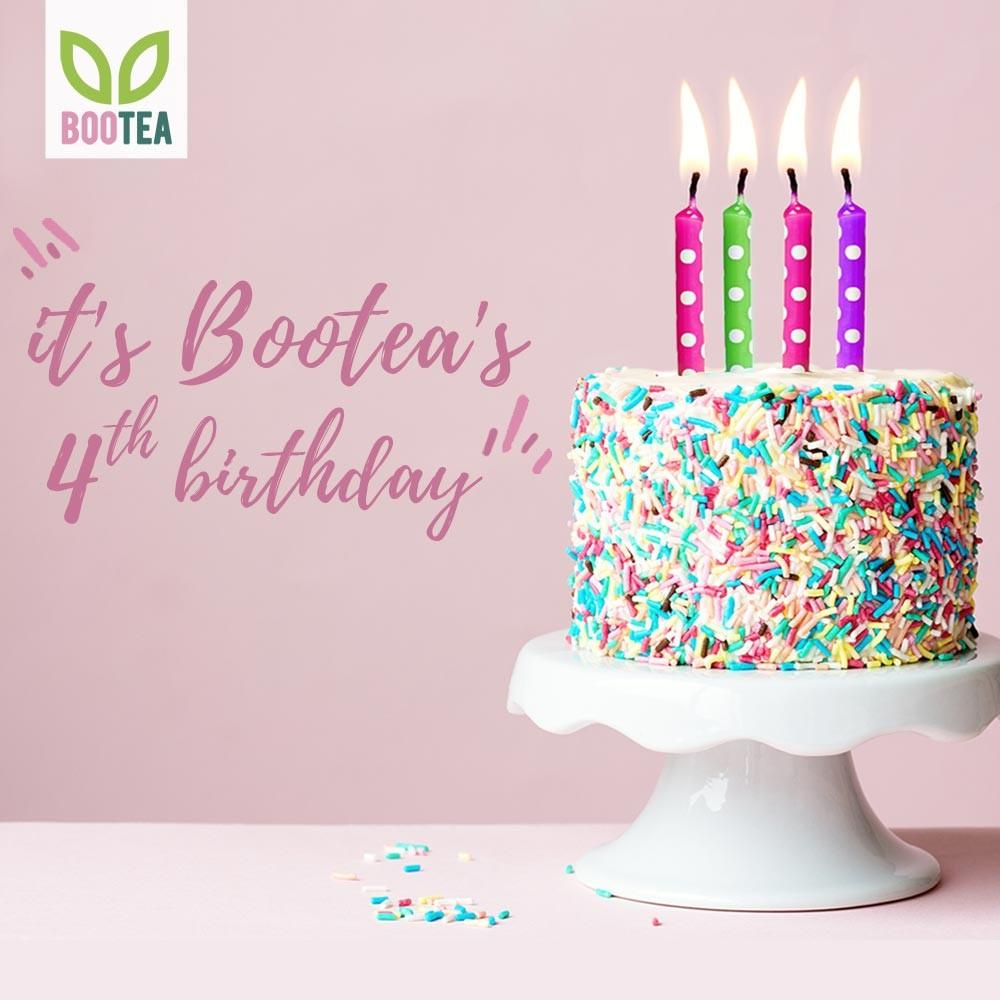 .@BooteaUK have been making us feel boo-tea-ful for a whole 4 years! Happy birthday guys 💚 🎈 🎁 https://t.co/JH1ILzc25T