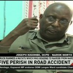 Five perish in Narok - Mai Mahiu road accident
